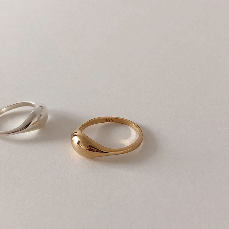 925silver stone line ring(2color)
