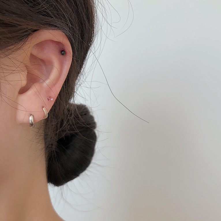 (1+1 증정!) white&black piercing