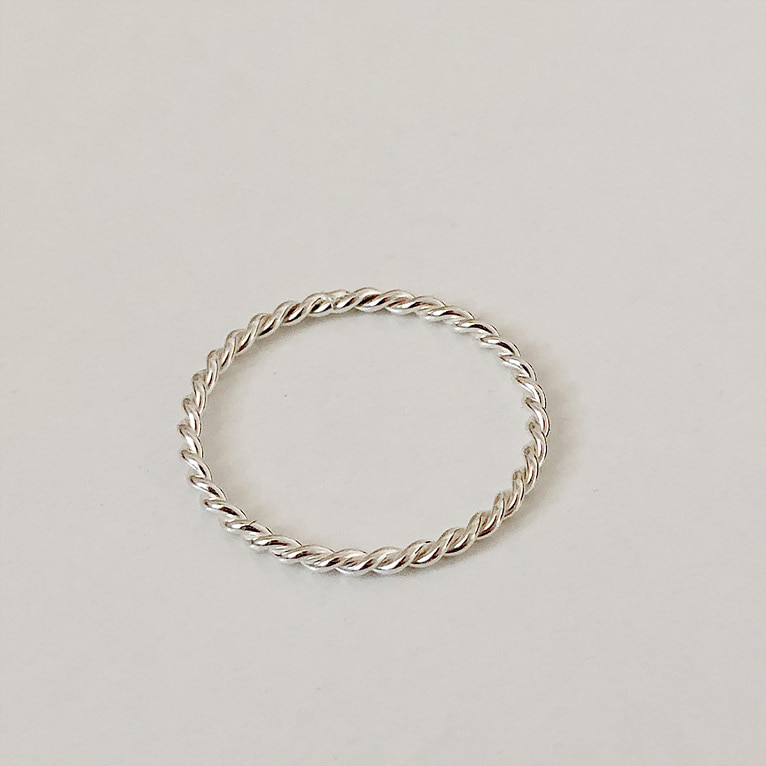 925silver 1.2mm twist ring