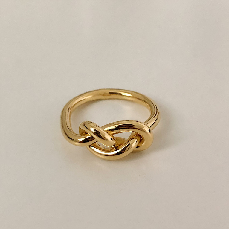925silver bold twist ring(2color)