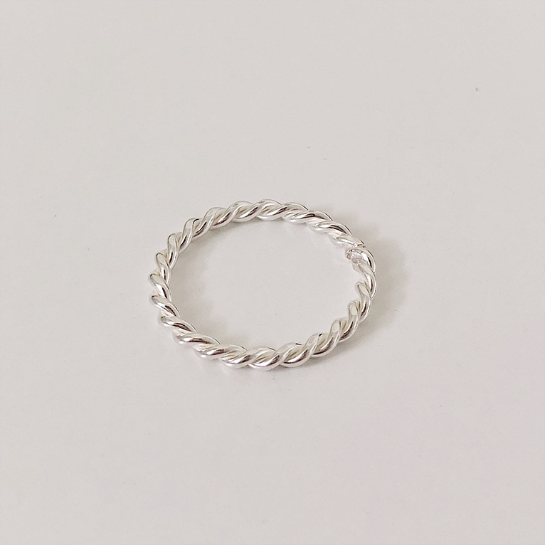 925silver 2.2mm twist ring