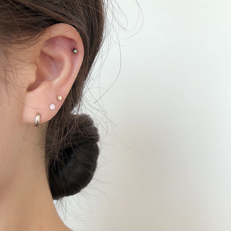 (1+1 구매시 할인!) surgical steel flat cubic piercing(12color)